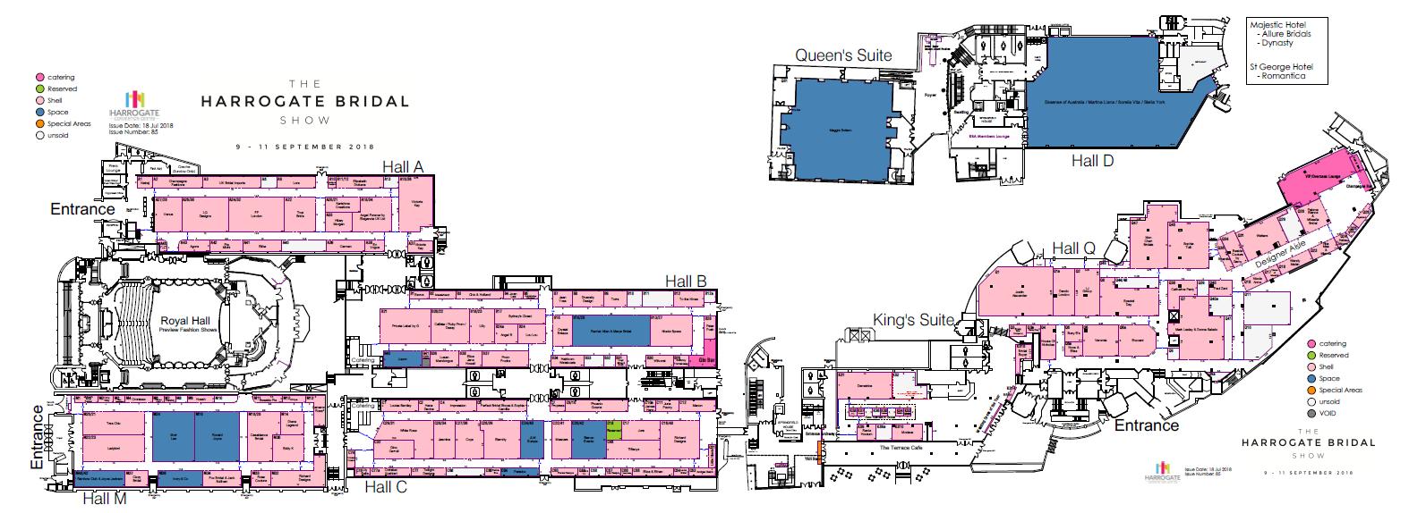 Harrogate Bridal Show floorplan