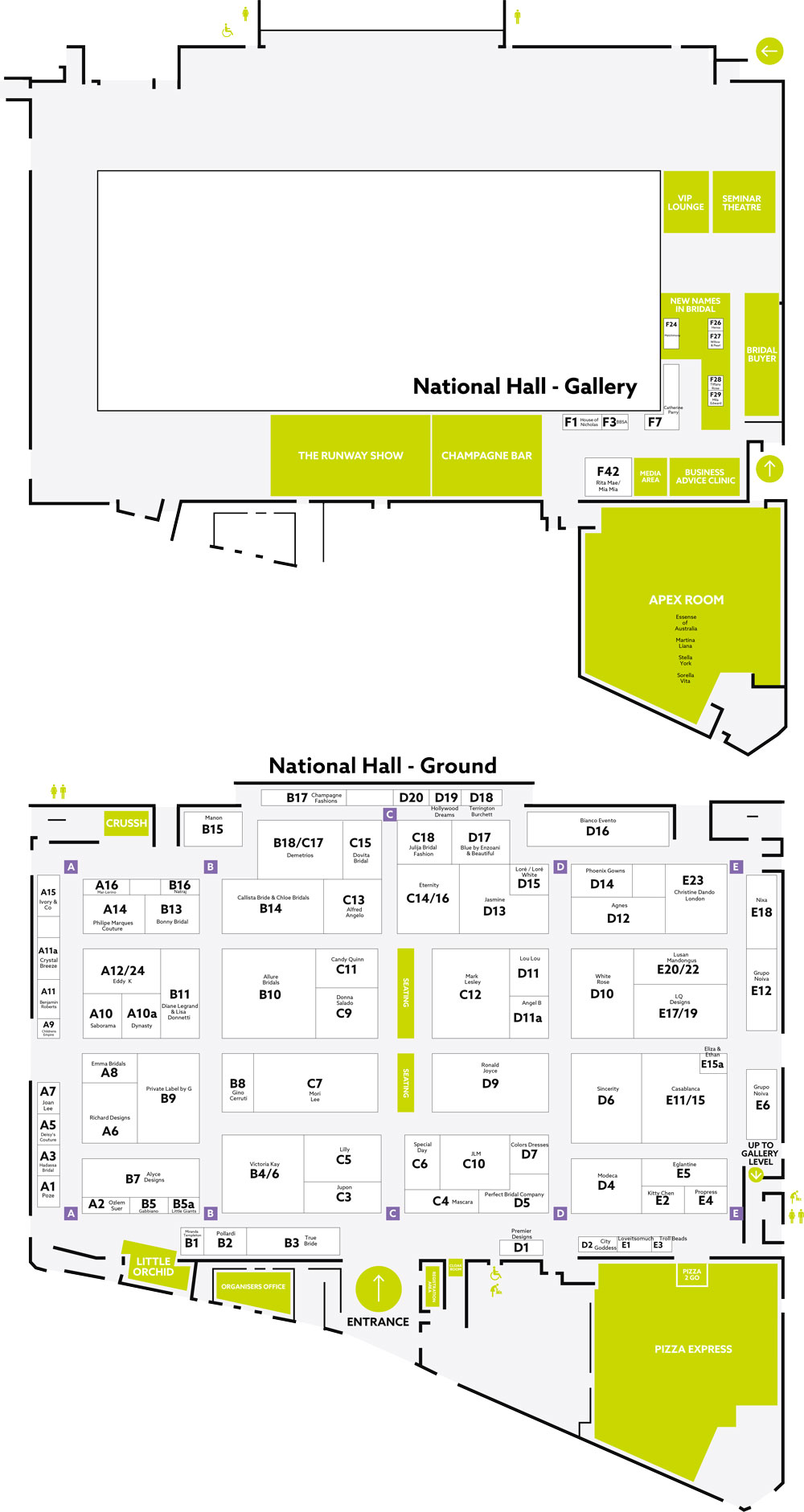 London Bridal Show floorplan