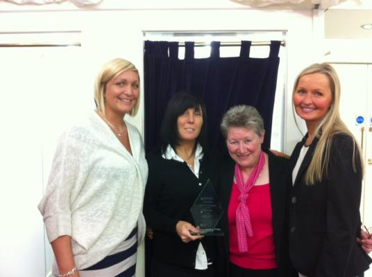 The Staff at Reeta Fashions who won the communion category