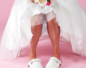 Beautiful bridal slippers