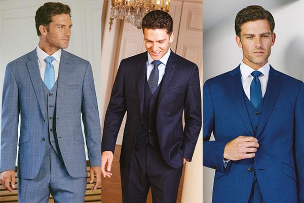 Grooms choose something blue