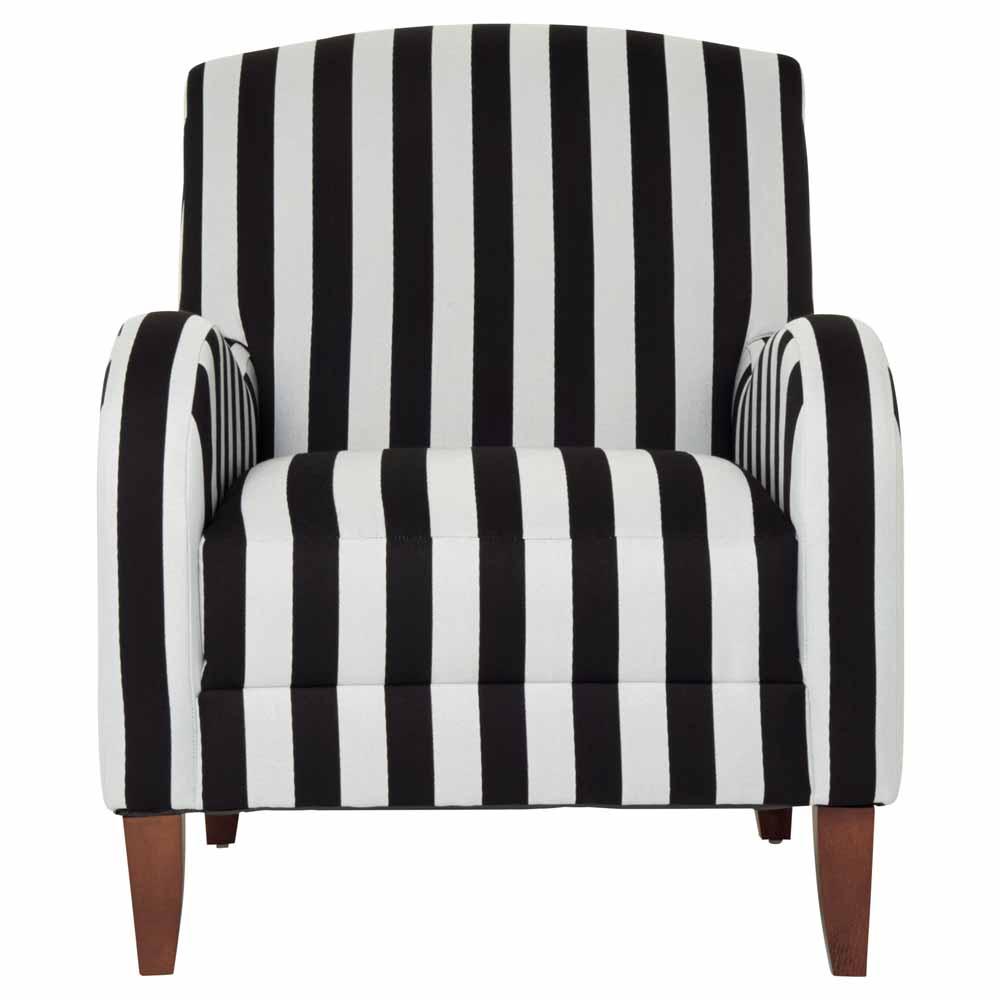 Monochrome Striped Chair