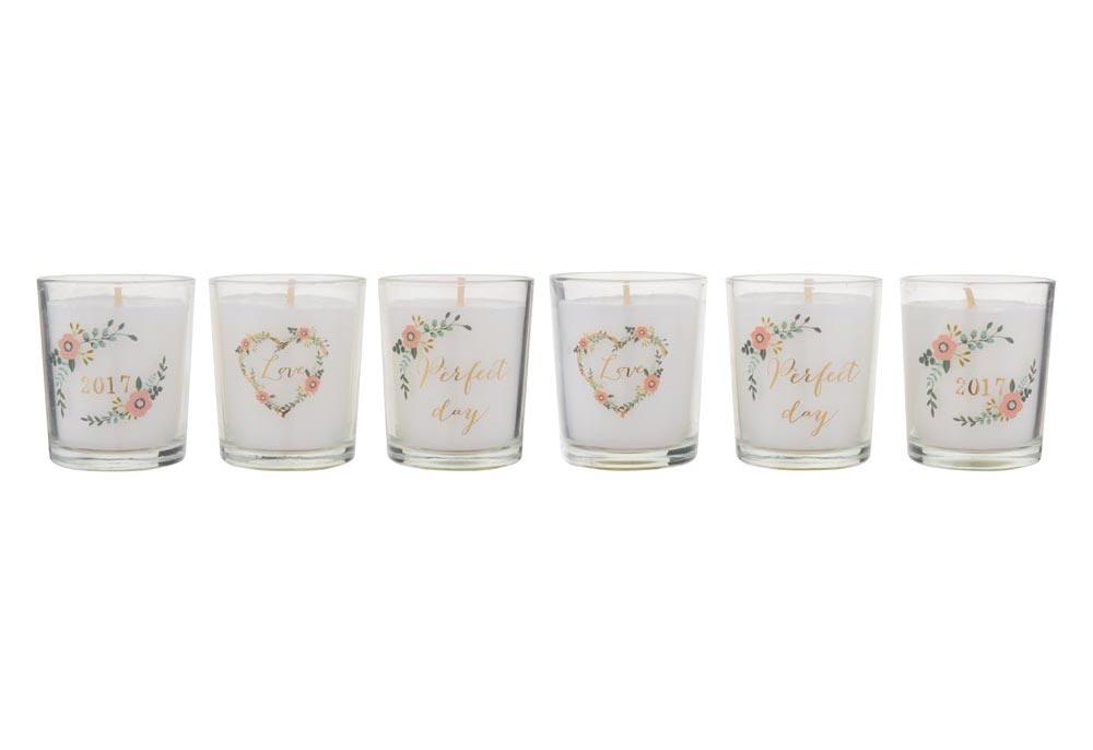 Set of Six Fragranced Candles