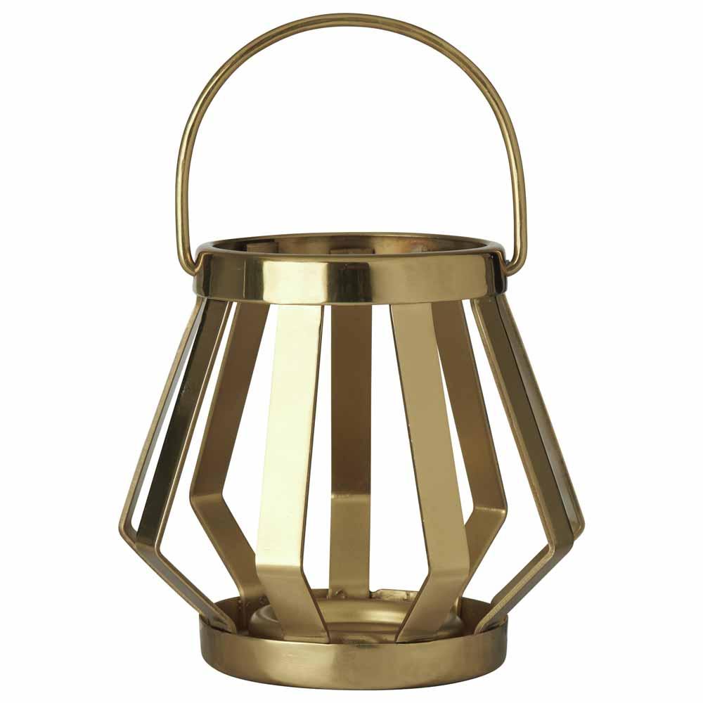 Small Metal Banded Lantern