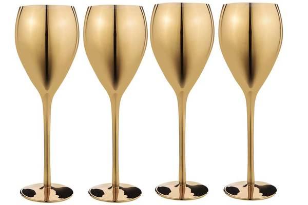 Gold Metallic Wine Glasses