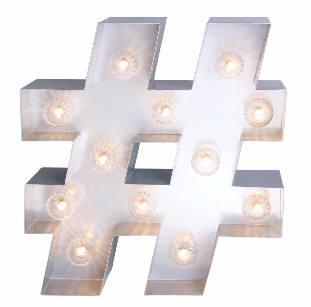 Light Up Hashtag