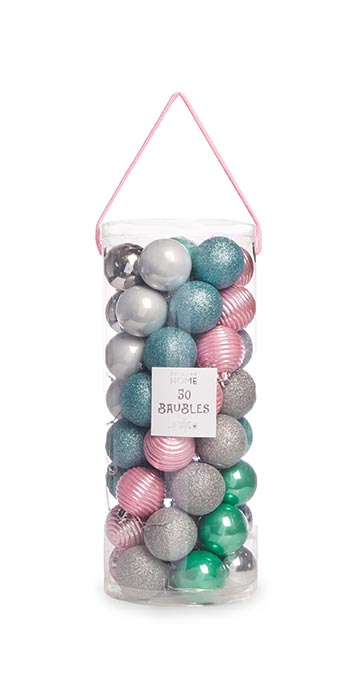 Pink and Blue Baubles from Primark