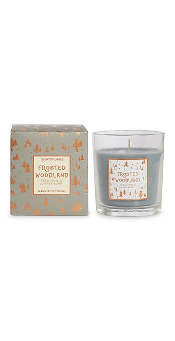 Frosted Woodland Candle