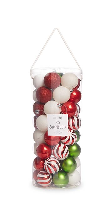 Box of 50 Traditional Baubles