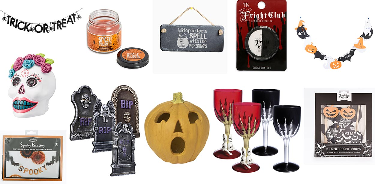 Halloween Decorations - product details L-R below