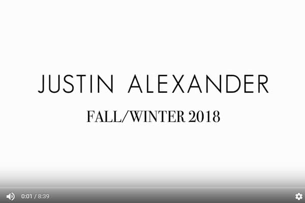 VIDEO: Justin Alexander's Autumn/Winter 2018 Show at NYBFW
