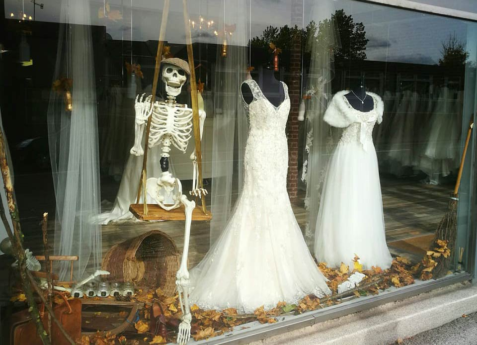 Halloween window display - featuring Freddie!