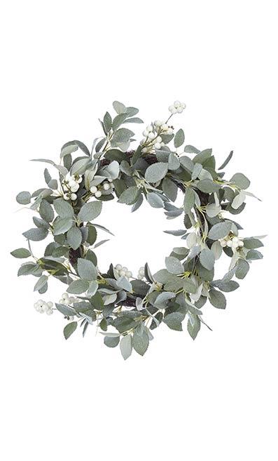 Snowy Eucalyptus Wreath - John Lewis