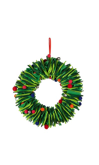 Felt Christmas Wreath - John Lewis