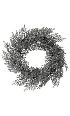 Silver Glitter Wreath - Marks and Spencer