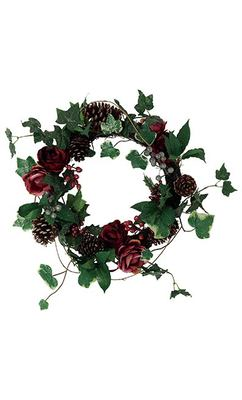 Plum Floral Wreath - Marks & Spencer
