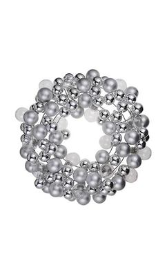 Silver Bauble Wreath - Next