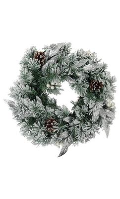 Snowy Light Up Wreath - Marks & Spencer