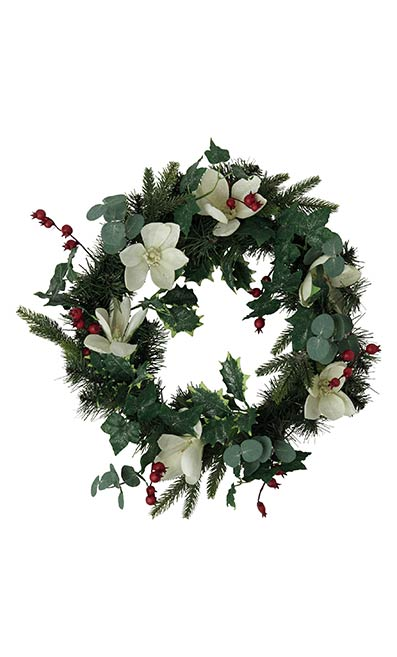 White Floral Wreath - Marks & Spencer
