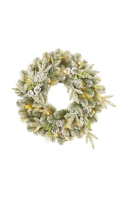 Snowy Derry Wreath - Homebase