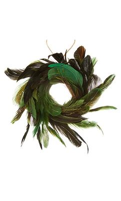 Green Feather Wreath - John Lewis
