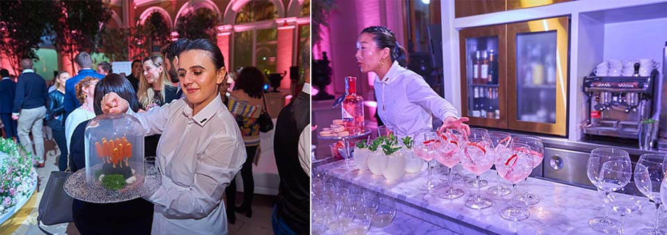 Drinks and canapes - Stuart Wood Photography