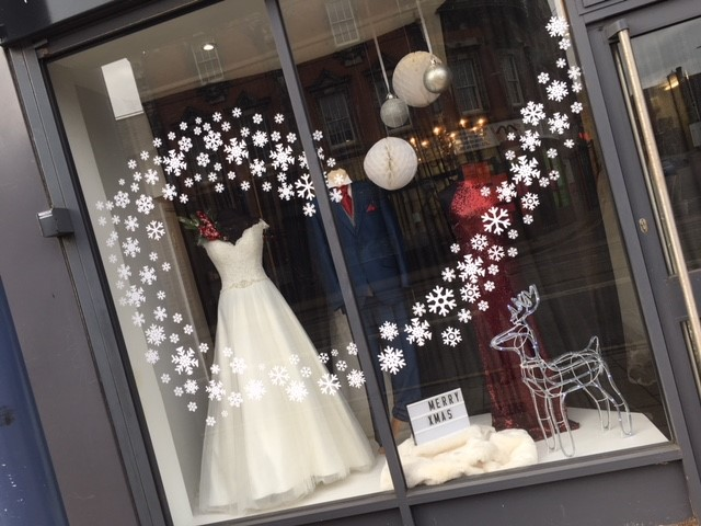 Snowflake Display - La Bella Bridal Boutique
