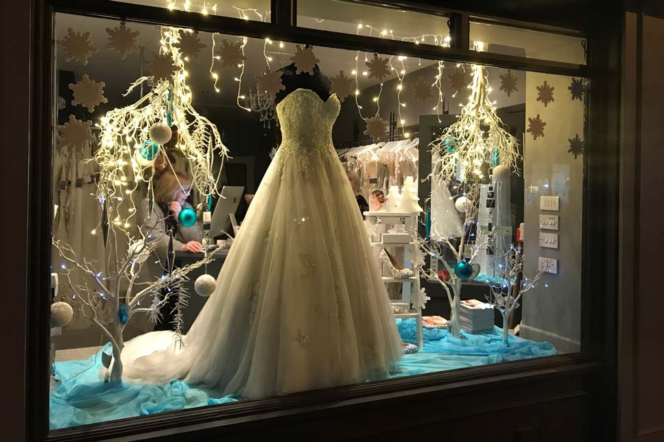 Icy Display - Creatiques Bridal Boutique
