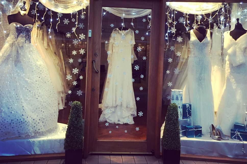 Silvery Christmas Display - Daisy's Couture Bridal