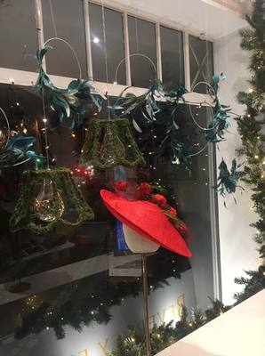 Greenery Christmas Display - Beverley Edmondson Millinery