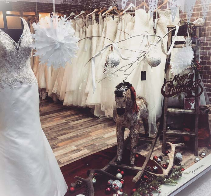 Festive Window Display - Sassi Bride