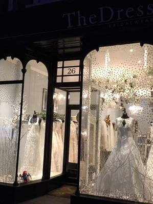 Snowy Display - The Dress Bridal Boutique