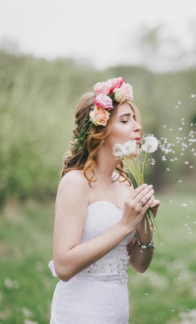 The boho bride trend is tipped to be big for 2018