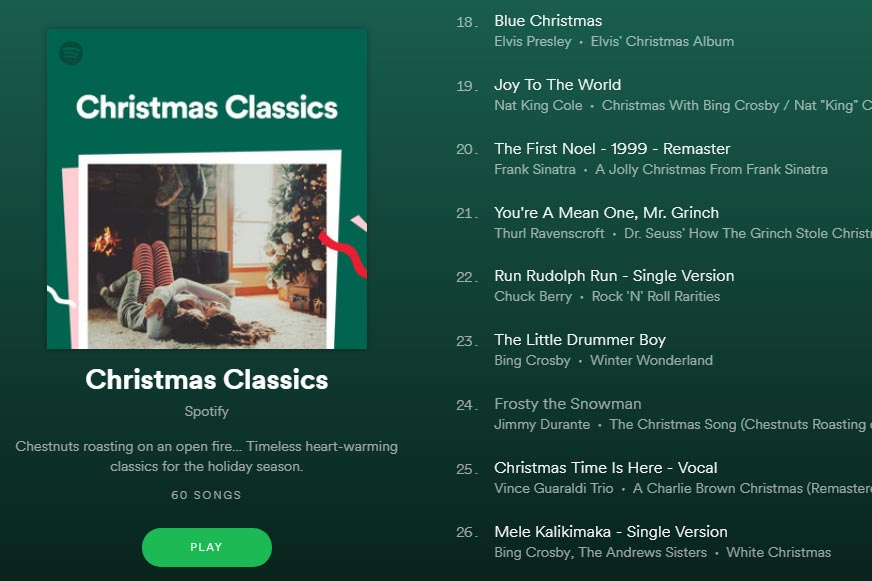 Christmas Classics playlist