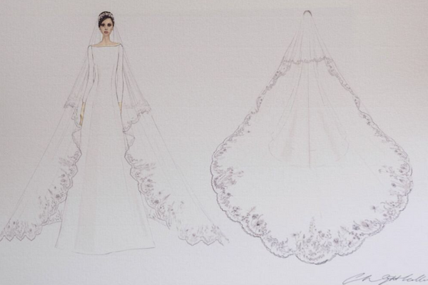 Meghan Markle's Dress Sketches Released