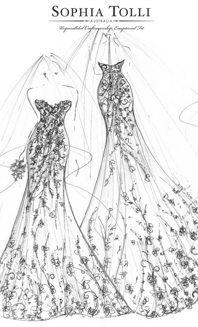 Sneak preview sketch from the Sophia Toll 2019 collection