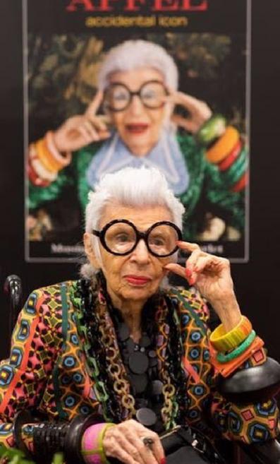 Iris at her book signing. Image taken from her Instagram: https://www.instagram.com/iris.apfel/?hl=e
