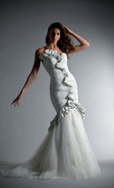 Ian Stuart's latest collection, Folie Frocks