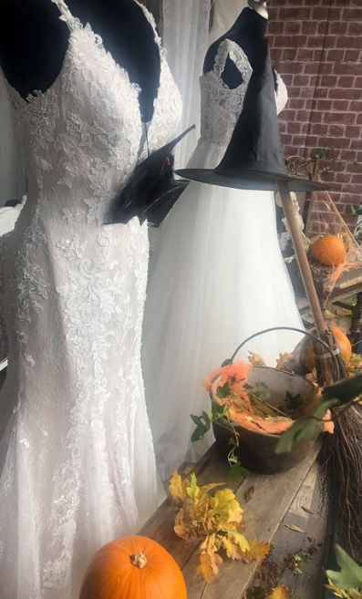 Nora Eve Bridal's Halloween display 2018
