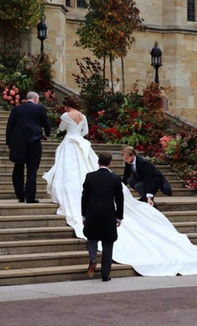 Princess Eugenie's wedding dress by Peter Pilotto and Christopher De Vos
