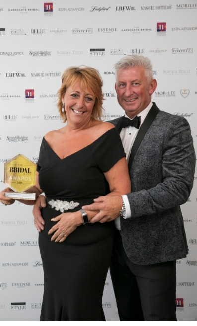 Mark and Jeanette Stevens from Enzoani at the Bridal Buyer Awards 2018