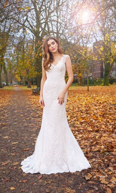 Catherine Parry's Cerys wedding dress from front