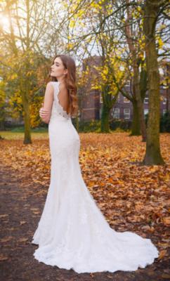 Catherine Parry's Cerys wedding dress from back