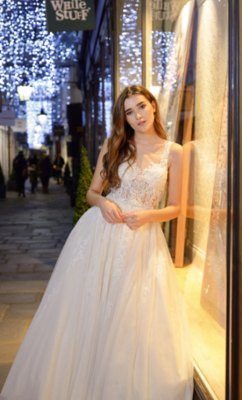 Catherine Parry's Isabella wedding dress from front