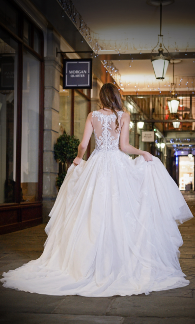Catherine Parry's Isabella wedding dress from back