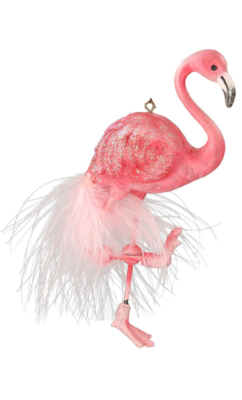 Feathered Flamingo Decoration