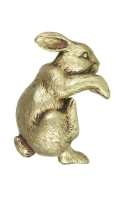 Golden Christmas Rabbit Pot Hanger
