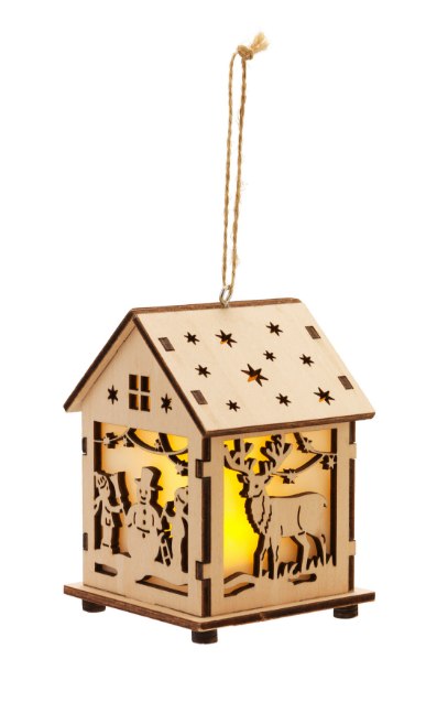 LED Wooden House Decoration