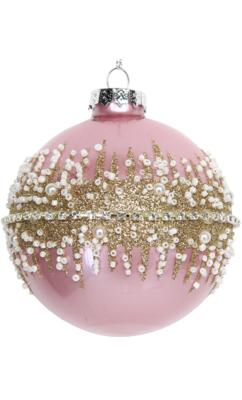 Pink Glass Bauble