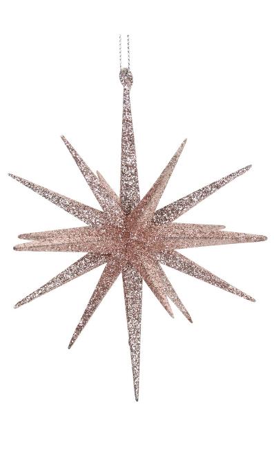 Pink Glitter Metal Bethlehem Star